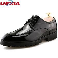 uexia new men flats black faux leather formal wedding dress shoes for man oxfords pointed toe dress vintage italian mens oxfords comfort shoes mens boat