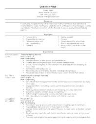 Full Resume Examples Sample Nanny Resumes Example Skills Infant Cool Infant Nanny Resume