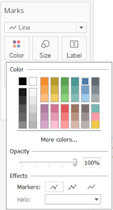Tableau Line Chart Markers Give A Background Color To The Labels In Line C Tableau