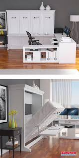 Image Diy Melbourne Queen Office Pro With Desk This Wall Bed Desk Is The Ultimate Solution For The Professional That Works From Home The Desk Has All The Features Kloter Farms Melbourne Queen Office Pro With Desk This Wall Bed Desk Is The
