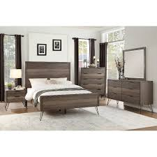 modern king bed. Contemporary Modern Modern Industrial Gray 4 Piece King Bedroom Set  Urbanite Intended Bed R