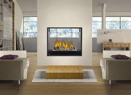 fireplace glass rocks contemporary