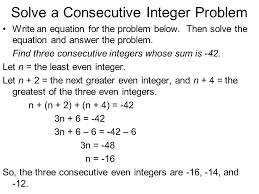 Consecutive Integers Worksheet With Answers Worksheets for all ...