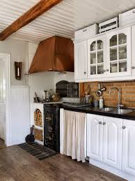 white traditional kitchen copper. Traditional Kitchen With White Cabinets And Copper Hood Installed In The Corner : Beautiful