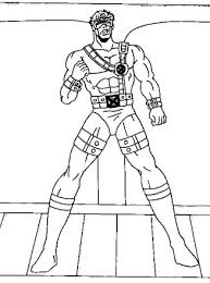 A born leader and strategist. X Men Coloring Page X Men Cyclops All Kids Network
