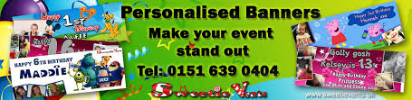 make your own birthday banner personalised banners wirral birthday banners wedding banners