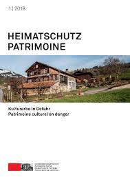 Heimatschutzpatrimoine 1 2018 By Schweizer Heimatschutz Issuu