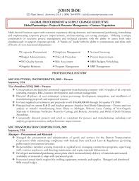 Resume Purchasing Global Procurement Executive Resume