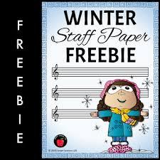 Staff Paper Treble Winter Music Worksheets Winter Staff Paper Free Treble Staff Paper