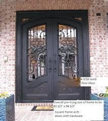 iron glass doors wrought iron door wrought iron vs stained glass door inserts