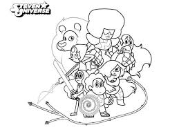 Steven Universe Coloring Pages Crystal Gems Get Coloring Page
