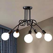 ceiling lamp black iron pendant light