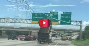 Dump Truck Freeway Sign Crash in Texas Captured in Shocking Video ...