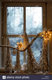 Weihnachts Dekoration Am Fensterscheibe Stockfoto Bild 30194882