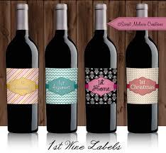 Diy Wine Bottle Labels Wine Label First For Bridal Shower Instant