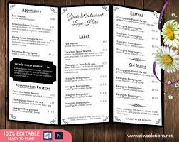 Microsoft Word Restaurant Menu Template Unique Design Templates Menu Templates Wedding Menu Food Menu Bar
