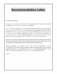 Letter Of Recommendation For Internship Letter For Recommendation Sample Of Template Pdf Promotion