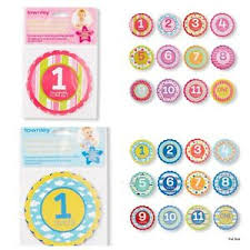Details About New Townley Baby Milestone First Year Stickers 12 Month Growth Chart Photo Opt