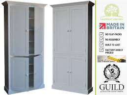Pine Kitchen Cupboard Doors Solid Wood 7ft Tall Larder Pantry Shelving Kitchen Cupboard
