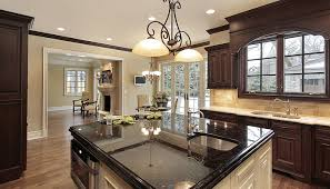 Black Granite Countertops With Tile Backsplash Interesting Backsplash For Black Granite Kitchen Traditional With Black K C R