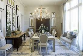 view full size amazing mosaic white blue tiled floors botanical photo gallery dining area with french