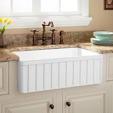 30 oldham fireclay farmhouse sink with fluted front