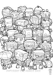 retro robot colouring page colouring book page one page instant pdf by pencilpirates on etsy