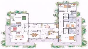 pool in middle fresh u shaped house plans with courtyard in middle house plans with a information