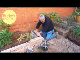 backyard fake stone garden edging