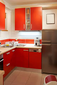 Red And Gold Kitchen Furniture Practical Small Kitchen Cabinet Ideas Modern Kitchen