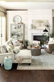 cream wall farmhouse living room