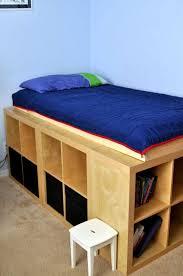 diy storage bed. DIY Storage Bed Using IKEA Expedit Shelving Units Diy L