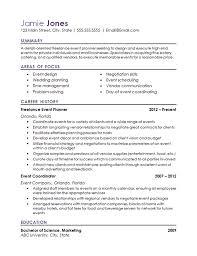 Event Coordinator Resume Example Hospitality Industry