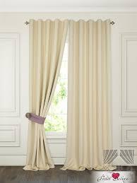 Классические шторы pina цвет: сливочный <b>томдом</b> из ткани ...