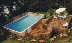 square above ground pool with deck. Click On The Image To View Examples Of Other Aqua Star Pools. Let Us Know What You Like And We Will Help Get Next Level. Square Above Ground Pool With Deck L