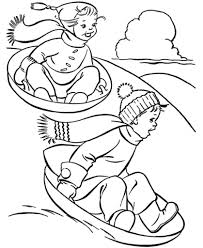 Download Coloring Pages: Winter Activities Coloring Pages Winter ...