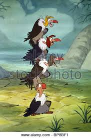 vultures the jungle book 1967 stock photo