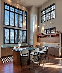 lighting for high ceilings. Tasty Kitchen Lighting Ideas For High Ceilings Minimalist New In With
