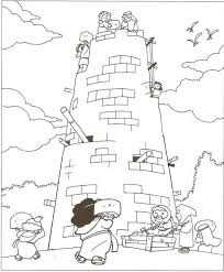 Small Picture Tower of Babel Coloring Pages for Kids Genesis The Start of our