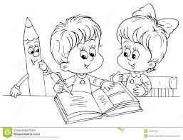 Small Picture Girl Reading Book Coloring Page Coloring Pages