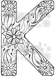 Letter K Coloring Page Letter K Coloring Pages Adult Free Printable