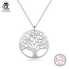 <b>ORSA JEWELS</b> Real <b>925 Sterling</b> Silver Women Necklaces With ...