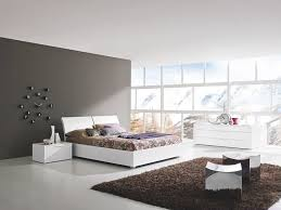 white italian bedroom furniture. Bedroom:Contemporary White Italian Bedroom Furniture With Black Fur Rug And Unique Wall Clock Idea