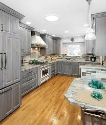 Painting Oak Kitchen Cabinets White Adorable Grey Stained Oak Cabinets Google Search Kitchen Pinterest