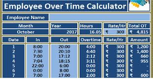 Salary Calculator In Excel Free Download Download Employee Over Time Calculator Excel Template