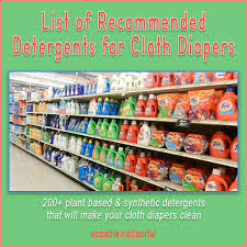 Cloth Diaper Laundry Detergent Chart Index