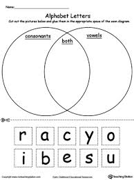 Venn Diagram Sheet Alphabet Letters Venn Diagram Myteachingstation Com