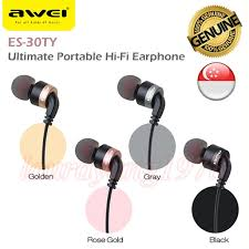 <b>Awei ES</b>-<b>30TY</b> Ultimate Portable Hi-Fi Earphone Earpiece Headset ...