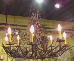 iron twig chandelier