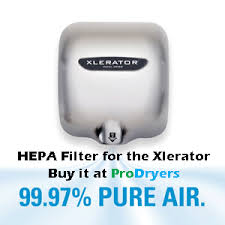 xlerator hand dryer hepa filter kit % pure air hand dryer xlerator hand dryer hepa filter kit 99 97% pure air hand dryer not included